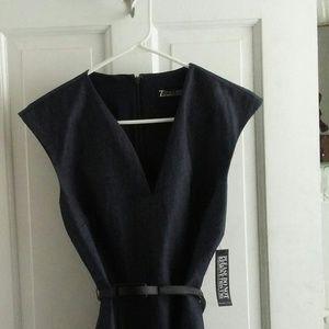 Navy Blue Sleeveless Dress